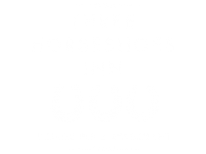 Three horseshoes Groesffordd Logo White